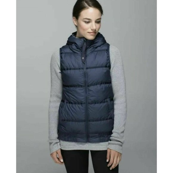 Lululemon Chilly Chill Puffy Vest Inkwell 6 EUC